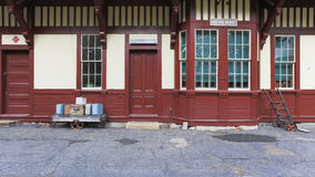 παλαιό τραίνο σταθμών Στοκ Φωτογραφίες