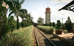 παλαιό τραίνο σταθμών Στοκ Εικόνες