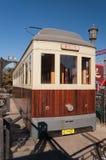 Παλαιό τραμ στην οδό Qianmenl στο Πεκίνο. Κίνα Στοκ Φωτογραφίες