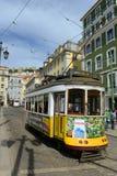 Παλαιό τραμ στη Λισσαβώνα, Πορτογαλία Στοκ εικόνες με δικαίωμα ελεύθερης χρήσης