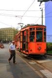 Παλαιό τραμ στο Μιλάνο Ιταλία Στοκ Φωτογραφία