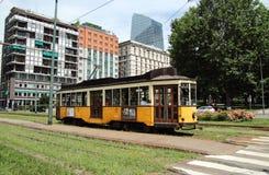 Παλαιό τραμ στο Μιλάνο Στοκ Εικόνες