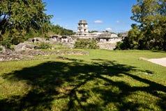 Παλαιό των Μάγια piramide, Palenque, Μεξικό Στοκ Εικόνες