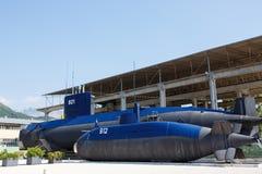 Παλαιό υποβρύχιο κοντά στο Tivat, Πόρτο Μαυροβούνιο στοκ εικόνες