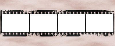 Παλαιό υπόβαθρο λουρίδων ταινιών Στοκ Φωτογραφίες