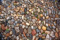 Παλαιό υπόβαθρο οδικού βράχου πετρών Στοκ Φωτογραφία