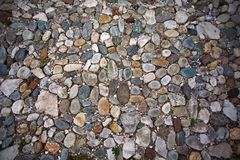 Παλαιό υπόβαθρο οδικού βράχου πετρών Στοκ Εικόνες