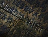 Παλαιό υπόβαθρο ταφοπέτρων Στοκ Φωτογραφία