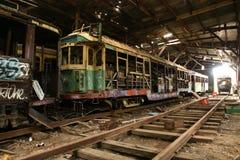 Παλαιό υπόστεγο τραμ Στοκ Φωτογραφίες