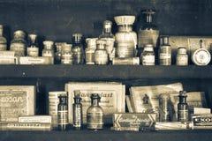 παλαιό φαρμακείο στοκ εικόνες