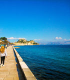 Παλαιό φρούριο του νησιού Ελλάδα της Κέρκυρας Στοκ Εικόνες