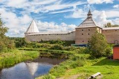 Παλαιό φρούριο Staraya Ladoga, Ρωσία Στοκ Φωτογραφία