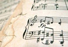 παλαιό φύλλο μουσικής Στοκ εικόνα με δικαίωμα ελεύθερης χρήσης