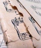 παλαιό φύλλο μουσικής Στοκ φωτογραφίες με δικαίωμα ελεύθερης χρήσης