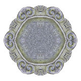 Παλαιό χαρασμένο πλαίσιο πετρών στο άσπρο υπόβαθρο για την εύκολη επιλογή Στοκ Φωτογραφία