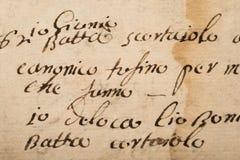 Παλαιό χειρόγραφο Στοκ εικόνα με δικαίωμα ελεύθερης χρήσης