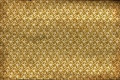 Παλαιό χρυσό σχέδιο λουλουδιών Στοκ φωτογραφία με δικαίωμα ελεύθερης χρήσης