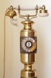 Παλαιό χρυσό τηλέφωνο αναδρομικό Στοκ φωτογραφία με δικαίωμα ελεύθερης χρήσης
