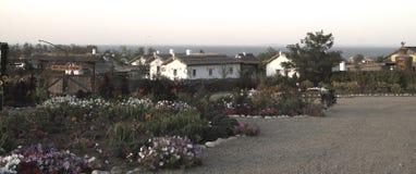 παλαιό χωριό σπιτιών στοκ εικόνες