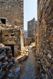 Παλαιό χωριό Vathia στοκ φωτογραφίες