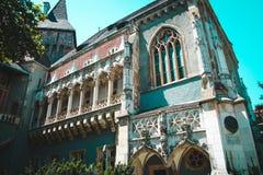 Παλαιό όμορφο κτήριο στη Βουδαπέστη, Ουγγαρία Στοκ φωτογραφία με δικαίωμα ελεύθερης χρήσης