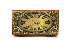 Παλαιό antiquarian ρολόι που απομονώνεται στο λευκό Στοκ εικόνα με δικαίωμα ελεύθερης χρήσης