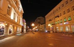Παλαιό Arbat στη Μόσχα τή νύχτα Στοκ Εικόνες