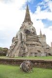 Παλαιό Chedi στο ναό Phra Sri Sanphet Στοκ Φωτογραφία