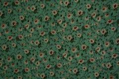 Παλαιό floral σχέδιο στο ύφασμα Στοκ Φωτογραφία
