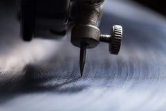 Παλαιό gramophone Κλείστε επάνω την όψη Εκλεκτική εστίαση Ρηχό διαμέρισμα Στοκ εικόνες με δικαίωμα ελεύθερης χρήσης