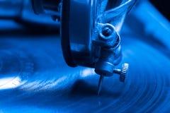 Παλαιό gramophone Κλείστε επάνω την όψη Εκλεκτική εστίαση Ρηχό διαμέρισμα Στοκ Εικόνες
