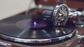 Παλαιό gramophone παιχνίδι απόθεμα βίντεο