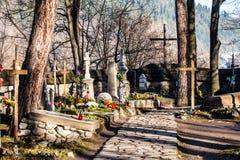 Παλαιό NA Peksowym Brzyzku νεκροταφείων σε Zakopane στην Πολωνία Στοκ φωτογραφία με δικαίωμα ελεύθερης χρήσης