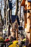 Παλαιό NA Peksowym Brzyzku νεκροταφείων σε Zakopane στην Πολωνία Στοκ Φωτογραφίες