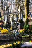 Παλαιό NA Peksowym Brzyzku νεκροταφείων σε Zakopane στην Πολωνία Στοκ Εικόνες