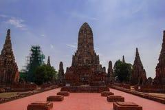 Παλαιό stupa στο ayudthaya, Ταϊλάνδη Στοκ Εικόνες