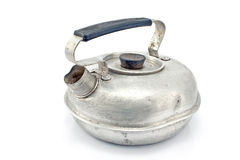 Παλαιό teapot αργιλίου Στοκ Εικόνες
