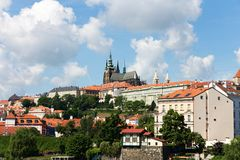 παλαιό vltava ταξιδιού ποταμών της Πράγας φωτογραφιών της Ευρώπης κάστρων Στοκ φωτογραφίες με δικαίωμα ελεύθερης χρήσης