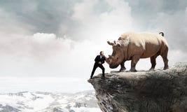 Παλεύοντας αντίπαλος επιχειρηματιών Μικτά μέσα στοκ φωτογραφίες