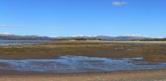 Παλιρροιακή εκβολή Αγγλία Cumbria Στοκ Φωτογραφίες