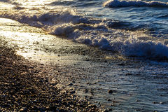 Παλιρροιακός αφορούσε το ηλιοβασίλεμα ή την ανατολή τονισμένος στοκ φωτογραφίες