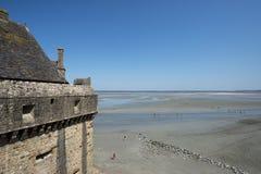 Παλιρροιακός κόλπος σε Mont Saint-Michel, Γαλλία στοκ φωτογραφίες με δικαίωμα ελεύθερης χρήσης