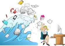 Παλιρροιακό κύμα της εργασίας - έκδοση γυναικών διανυσματική απεικόνιση