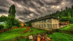 Παλιό σχολείο στη θύελλα Στοκ Εικόνες