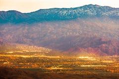 Παλμ Σπρινγκς και ΑΜ SAN Jacinto Mountains CA US στοκ φωτογραφία με δικαίωμα ελεύθερης χρήσης