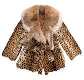 Παλτό γουνών μόδας Στοκ εικόνα με δικαίωμα ελεύθερης χρήσης
