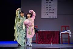 Παλτό εκπαιδεύω-Jiangxi OperaBlue δράματος Στοκ Φωτογραφίες