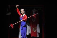 Παλτό τέχνασμα-Jiangxi OperaBlue παιχνιδιού Στοκ Εικόνες