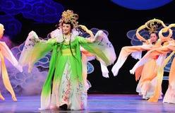 Παλτό χορός-Jiangxi OperaBlue νεράιδων Στοκ Φωτογραφίες