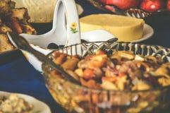 Πείνα κρέατος γιορτής γευμάτων Gala φίνη Στοκ εικόνα με δικαίωμα ελεύθερης χρήσης